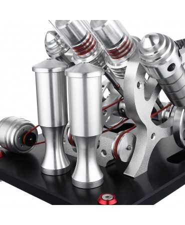 Motor stirling El cuatro cilindros 4V Stirling