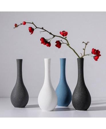 Florero de cerámica con textura de grafito Duchess Jarrones y floreros