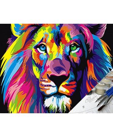 Panthera Leo Pintura por números