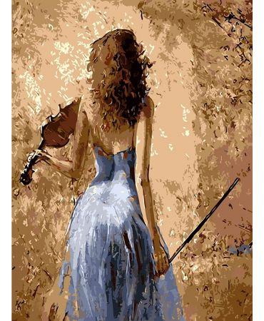 Descanso de violín Retratos y situaciones