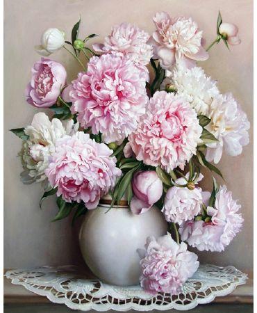 Florero blanco Flores y naturaleza