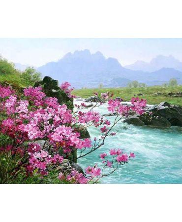 Río frente al rosa Paisajes