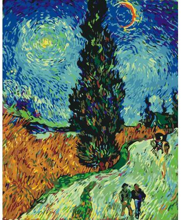Camino con ciprés y estrella de Vincent Van Gogh De artistas célebres
