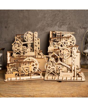Circuito de canicas El molino de agua Circuitos de canicas