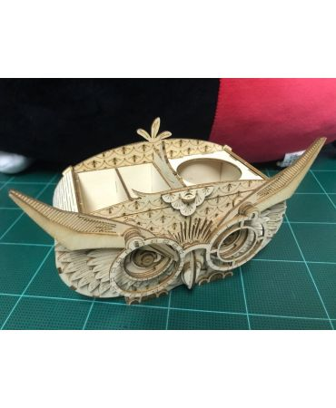 Búho lapicero 3D Objetos y animales