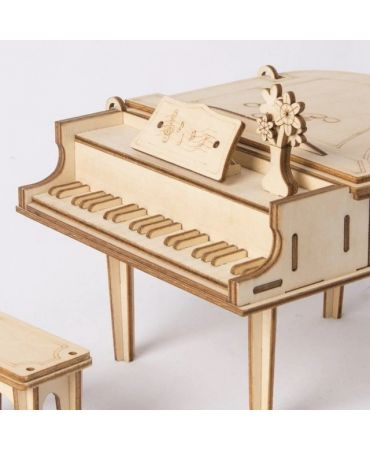 Piano de cola 3D Objetos y animales