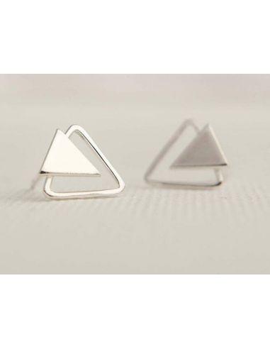 Doble Triángulo infinito Pendientes
