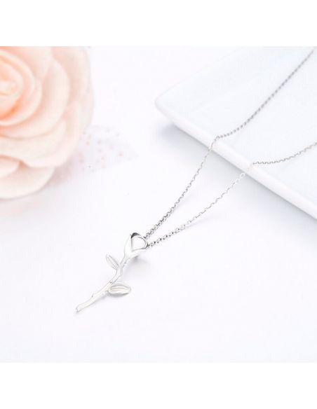Rosa Espinada Collares de Plata