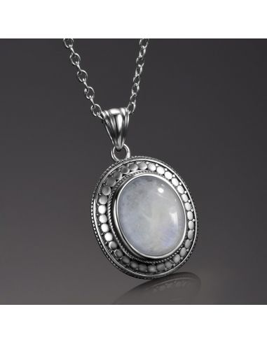 Piedra Lunar Collares de Plata