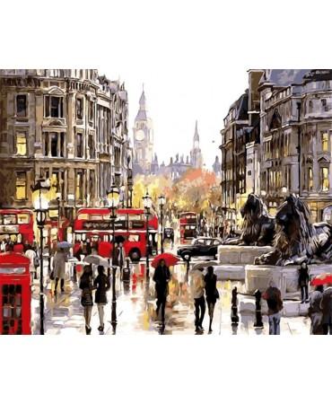 Un día lluvioso en Londres Pintura por números