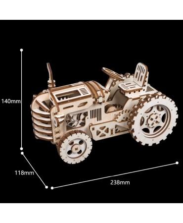 KIT Tractor mecánico de madera 3D Mecánicos