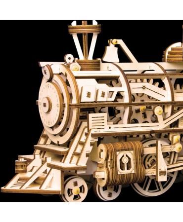 KIT Locomotora mecánica de madera 3D Mecánicos