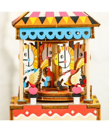 Cajapuzzle musical Carrusel Merry-Go Musicales