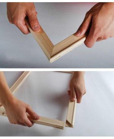 Marco de madera para enmarcar lienzos Pintura por números