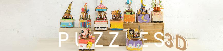 Puzzles 3D Colección inspirada en el Steampunk