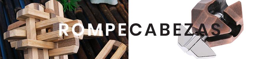 Rompecabezas de madera y metal