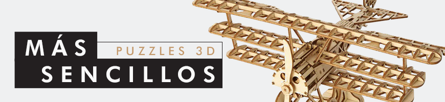 Puzzles 3D más sencillos para toda la familia