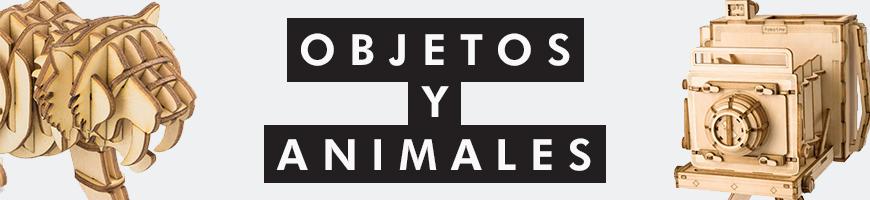 Puzzles 3D objetos y animales del mundo