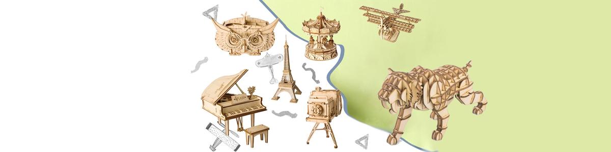 Puzzles 3D Objetos y animales