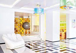 Diseños de hoteles llenos de colores